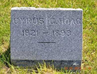HOAG, CYRUS G. - Branch County, Michigan | CYRUS G. HOAG - Michigan Gravestone Photos