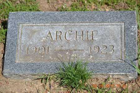 HOLLISTER, ARCHIE - Branch County, Michigan | ARCHIE HOLLISTER - Michigan Gravestone Photos