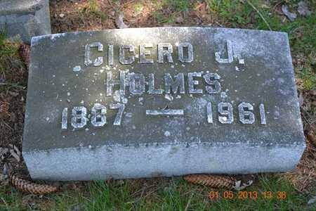 HOLMES, CICERO J. - Branch County, Michigan | CICERO J. HOLMES - Michigan Gravestone Photos