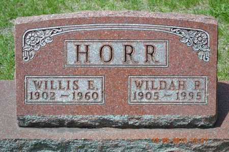HORR, WILDAH R. - Branch County, Michigan | WILDAH R. HORR - Michigan Gravestone Photos