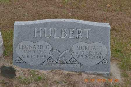 HULBERT, LEONARD G. - Branch County, Michigan   LEONARD G. HULBERT - Michigan Gravestone Photos