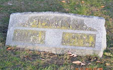 JENKINS, MYRA - Branch County, Michigan | MYRA JENKINS - Michigan Gravestone Photos