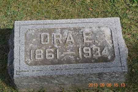 JONES, ORA E. - Branch County, Michigan | ORA E. JONES - Michigan Gravestone Photos