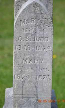 JUDD, MARY E.(CLOSEUP) - Branch County, Michigan   MARY E.(CLOSEUP) JUDD - Michigan Gravestone Photos