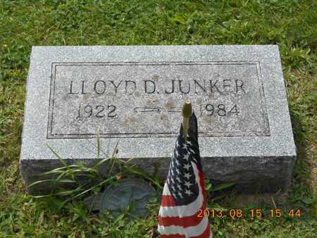 JUNKER, LLOYD D. - Branch County, Michigan | LLOYD D. JUNKER - Michigan Gravestone Photos