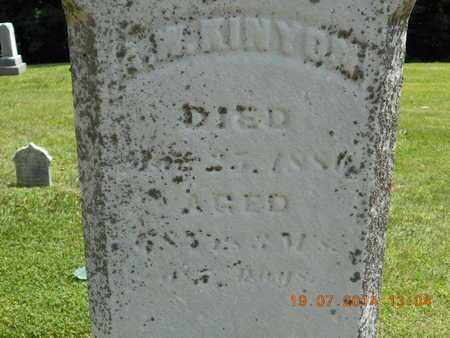 KINYON, A.W. - Branch County, Michigan   A.W. KINYON - Michigan Gravestone Photos
