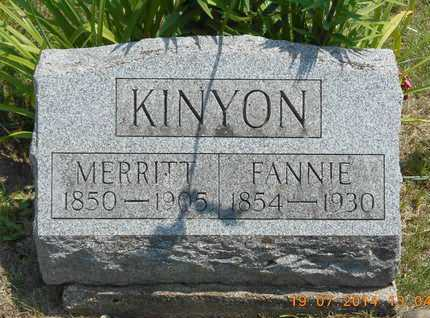 KINYON, MERRITT - Branch County, Michigan | MERRITT KINYON - Michigan Gravestone Photos