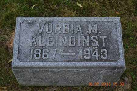 KLEINDINST, VURBIA - Branch County, Michigan | VURBIA KLEINDINST - Michigan Gravestone Photos