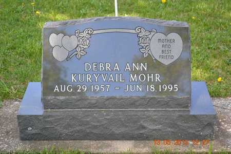 KURYVAIL MOHR, DEBRA ANN - Branch County, Michigan | DEBRA ANN KURYVAIL MOHR - Michigan Gravestone Photos