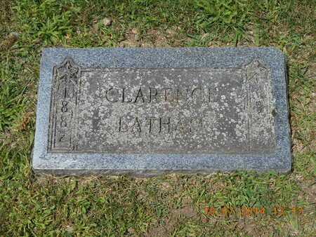 LATHAM, CLARENCE - Branch County, Michigan | CLARENCE LATHAM - Michigan Gravestone Photos