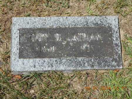 LATHAM, GUY D. - Branch County, Michigan   GUY D. LATHAM - Michigan Gravestone Photos