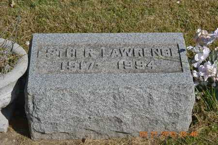 LAWRENCE, ESTHER - Branch County, Michigan | ESTHER LAWRENCE - Michigan Gravestone Photos