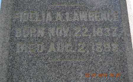 LAWRENCE, FIDELIA A. - Branch County, Michigan | FIDELIA A. LAWRENCE - Michigan Gravestone Photos