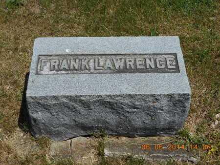 LAWRENCE, FRANK - Branch County, Michigan   FRANK LAWRENCE - Michigan Gravestone Photos