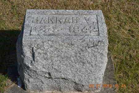 LAWRENCE, HANNAH V. - Branch County, Michigan | HANNAH V. LAWRENCE - Michigan Gravestone Photos