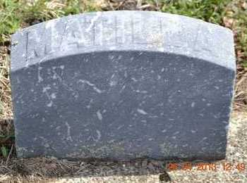 LAWRENCE, MATILDA(FOOTSTONE) - Branch County, Michigan | MATILDA(FOOTSTONE) LAWRENCE - Michigan Gravestone Photos