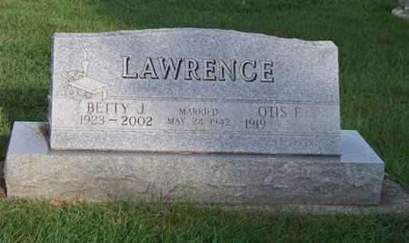 LAWRENCE, BETTY - Branch County, Michigan | BETTY LAWRENCE - Michigan Gravestone Photos