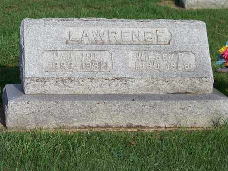LAWRENCE, PAULINE - Branch County, Michigan | PAULINE LAWRENCE - Michigan Gravestone Photos