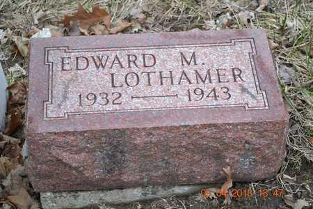 LOTHAMER, EDWARD M. - Branch County, Michigan | EDWARD M. LOTHAMER - Michigan Gravestone Photos
