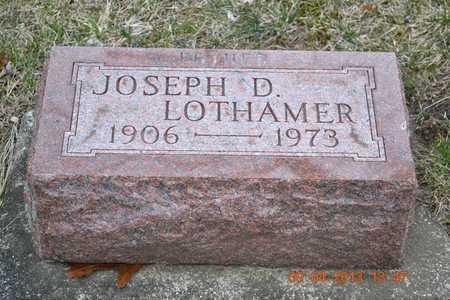 LOTHAMER, JOSEPH D. - Branch County, Michigan | JOSEPH D. LOTHAMER - Michigan Gravestone Photos
