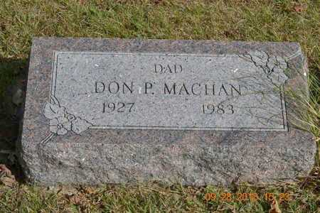 MACHAN, DON P. - Branch County, Michigan | DON P. MACHAN - Michigan Gravestone Photos