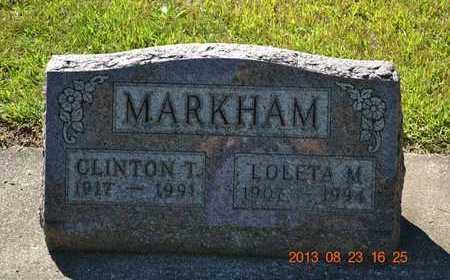 MARKHAM, LOLETA M. - Branch County, Michigan | LOLETA M. MARKHAM - Michigan Gravestone Photos