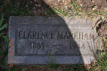 MARKHAM, CLARENCE - Branch County, Michigan   CLARENCE MARKHAM - Michigan Gravestone Photos