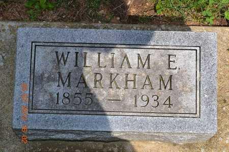 MARKHAM, WILLIAM E. - Branch County, Michigan | WILLIAM E. MARKHAM - Michigan Gravestone Photos