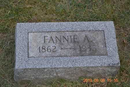 MARTIN, FANNIE A. - Branch County, Michigan | FANNIE A. MARTIN - Michigan Gravestone Photos