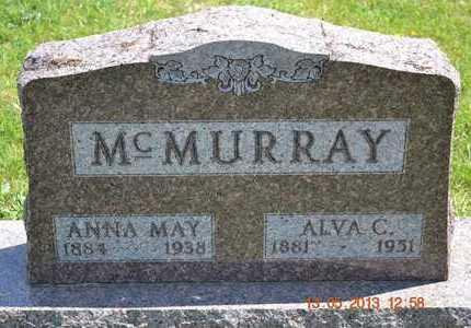 MCMURRAY, ANNA MAY - Branch County, Michigan | ANNA MAY MCMURRAY - Michigan Gravestone Photos