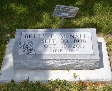 MCNALL, BETTY E. - Branch County, Michigan | BETTY E. MCNALL - Michigan Gravestone Photos