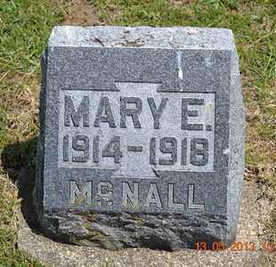 MCNALL, MARY E. - Branch County, Michigan | MARY E. MCNALL - Michigan Gravestone Photos