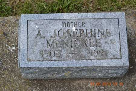 MCNICKLE, A. JOSEPHINE - Branch County, Michigan | A. JOSEPHINE MCNICKLE - Michigan Gravestone Photos