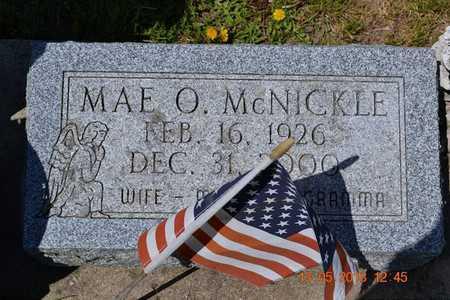 MCNICKLE, MAE O. - Branch County, Michigan | MAE O. MCNICKLE - Michigan Gravestone Photos
