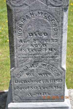 MELENDY, NORMAN/SALLIE(CLOSEUP) - Branch County, Michigan | NORMAN/SALLIE(CLOSEUP) MELENDY - Michigan Gravestone Photos