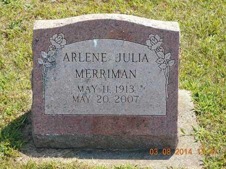 MERRIMAN, ARLENE JULIA - Branch County, Michigan | ARLENE JULIA MERRIMAN - Michigan Gravestone Photos