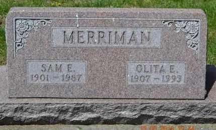MERRIMAN, OLITA E. - Branch County, Michigan | OLITA E. MERRIMAN - Michigan Gravestone Photos