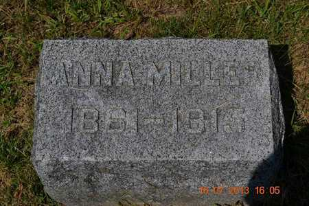 MILLER, ANNA - Branch County, Michigan | ANNA MILLER - Michigan Gravestone Photos