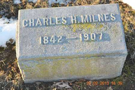MILNES, CHARLES H. - Branch County, Michigan | CHARLES H. MILNES - Michigan Gravestone Photos