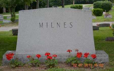 MILNES, FAMILY - Branch County, Michigan | FAMILY MILNES - Michigan Gravestone Photos