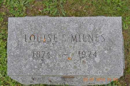 MILNES, LOUISE S. - Branch County, Michigan | LOUISE S. MILNES - Michigan Gravestone Photos