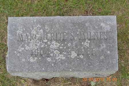 MILNES, MARGUERITE S. - Branch County, Michigan | MARGUERITE S. MILNES - Michigan Gravestone Photos