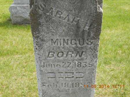 MINGUS, SARAH H. - Branch County, Michigan | SARAH H. MINGUS - Michigan Gravestone Photos