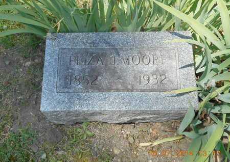 MOORE, ELIZA J. - Branch County, Michigan | ELIZA J. MOORE - Michigan Gravestone Photos