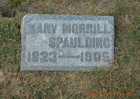 SPAULDING MORRILL, MARY - Branch County, Michigan | MARY SPAULDING MORRILL - Michigan Gravestone Photos