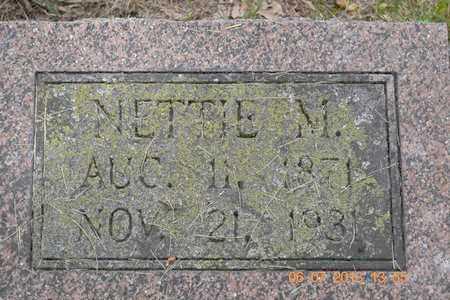 MORRISSY, NETTIE M. - Branch County, Michigan | NETTIE M. MORRISSY - Michigan Gravestone Photos