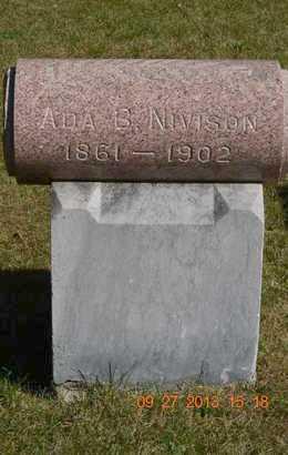 NIVISON, ADA B. - Branch County, Michigan   ADA B. NIVISON - Michigan Gravestone Photos