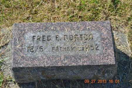 NORTON, FRED E. - Branch County, Michigan | FRED E. NORTON - Michigan Gravestone Photos