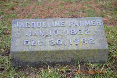 PALMER, JACQUELINE - Branch County, Michigan | JACQUELINE PALMER - Michigan Gravestone Photos