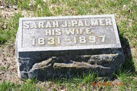 PALMER, SARAH J. - Branch County, Michigan | SARAH J. PALMER - Michigan Gravestone Photos